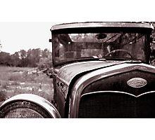 junkyard car Photographic Print