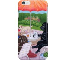 Pool Party Labradors 2 iPhone Case/Skin