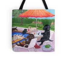 Pool Party Labradors 2 Tote Bag
