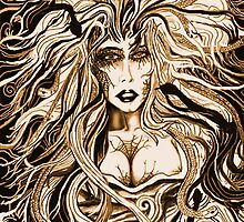 """""""Black Medusa (sepia)"""" by Steve Farr"""