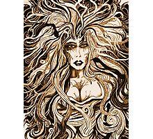 """Black Medusa (sepia)"" Photographic Print"