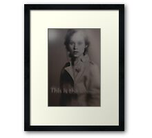 This is the woman Framed Print