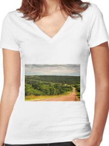 PEMBINA VALLEY Women's Fitted V-Neck T-Shirt