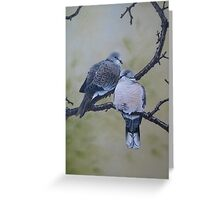 Collared Doves Greeting Card