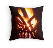 Firebasket Throw Pillow