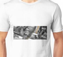 Cityscape Black White & Yellow Oil Painting Unisex T-Shirt