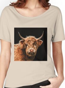 Highland Cow In Colour Women's Relaxed Fit T-Shirt