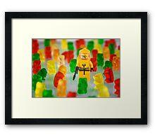 When Gummies Attack Framed Print