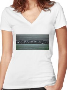 Storm clouds gather Women's Fitted V-Neck T-Shirt