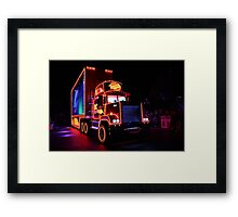 Paint the Night Parade Cars  Framed Print