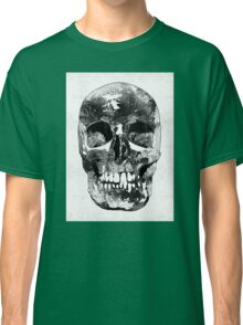 Black And White Skull by Sharon Cummings Classic T-Shirt