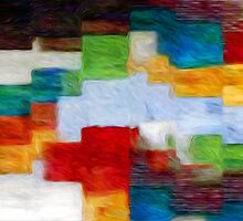 Squares Abstract Oil Painting by Fred Seghetti
