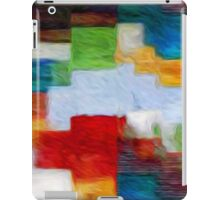 Squares Abstract Oil Painting iPad Case/Skin