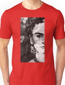Black And White Frida Kahlo by Sharon Cummings Unisex T-Shirt