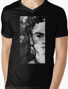 Black And White Frida Kahlo by Sharon Cummings Mens V-Neck T-Shirt