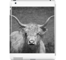Curious Highlander Black And White iPad Case/Skin