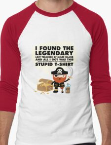Monkey Island Pirate Melee Island Men's Baseball ¾ T-Shirt