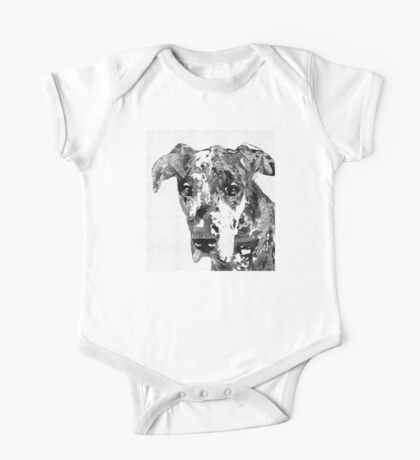 Black And White Great Dane Art Dog By Sharon Cummings One Piece - Short Sleeve