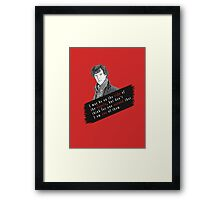Sherlock Quote Angels Framed Print