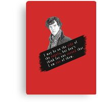 Sherlock Quote Angels Canvas Print