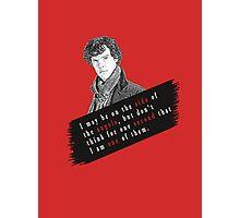 Sherlock Quote Angels Photographic Print