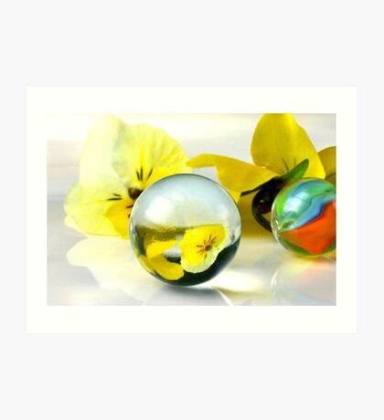 Pearls & Flowers Art Print