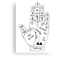 Twin Peaks Palmistry Canvas Print