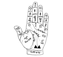 Twin Peaks Palmistry Photographic Print
