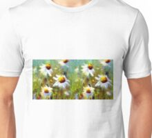 Field of Flowers Oil Painting Unisex T-Shirt