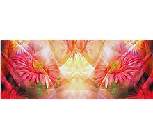 Abstract Flowers Oil Painting 9 Photographic Print