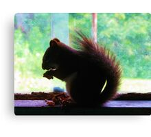Watercolory Red Canvas Print