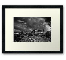 Outback Storm Framed Print