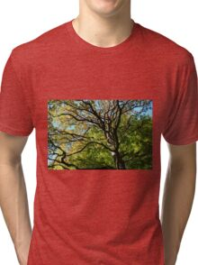 Looking up - HDR Tri-blend T-Shirt