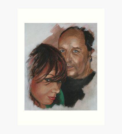 Tamara and Darrel Art Print