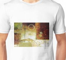 Squares Circles Lines Oil Painting 2 Unisex T-Shirt