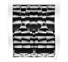 Checked Wine Glasses Poster