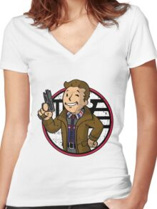 Replicant Hunter (sticker) Women's Fitted V-Neck T-Shirt