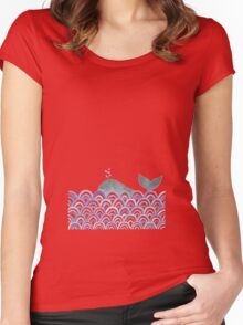 With love, Lord Whaleington II.  Women's Fitted Scoop T-Shirt