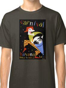 Havana Carnival Vintage Travel Poster Classic T-Shirt