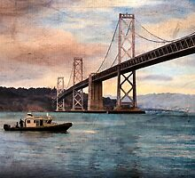 By the Bridge by Terry  Pellmar