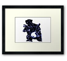 Pokemon Blastoise water fracture Framed Print