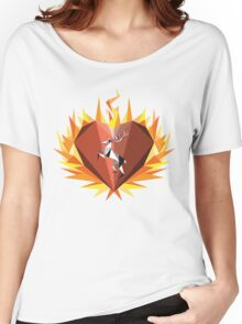 The Flaming Heart Women's Relaxed Fit T-Shirt