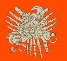 """Petals"" Foot Bones and Flora Illustration Kids Tee"