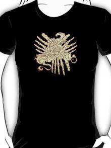 """""""Petals"""" Foot Bones and Flora Illustration T-Shirt"""