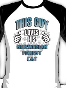 This guy loves his Norwegian Forest Cat T-Shirt