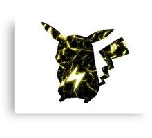 Pokemon Pikachu electric fracture Canvas Print