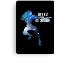 Mass Effect Silhouettes, Garrus - Don't Wait, Just Calibrate! Canvas Print