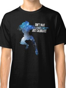 Mass Effect Silhouettes, Garrus - Don't Wait, Just Calibrate! Classic T-Shirt
