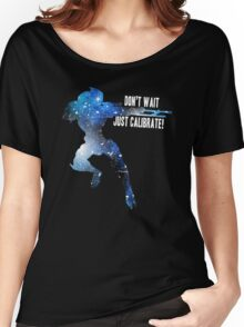 Mass Effect Silhouettes, Garrus - Don't Wait, Just Calibrate! Women's Relaxed Fit T-Shirt