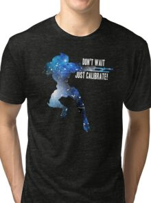 Mass Effect Silhouettes, Garrus - Don't Wait, Just Calibrate! Tri-blend T-Shirt